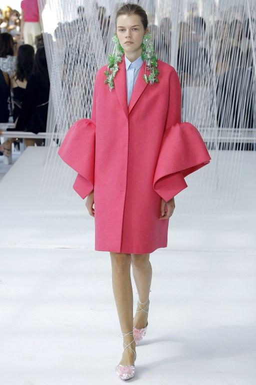 Delpozo frilled sleeves coat